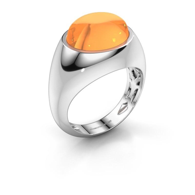 Ring Laurien 925 zilver citrien 12x10 mm