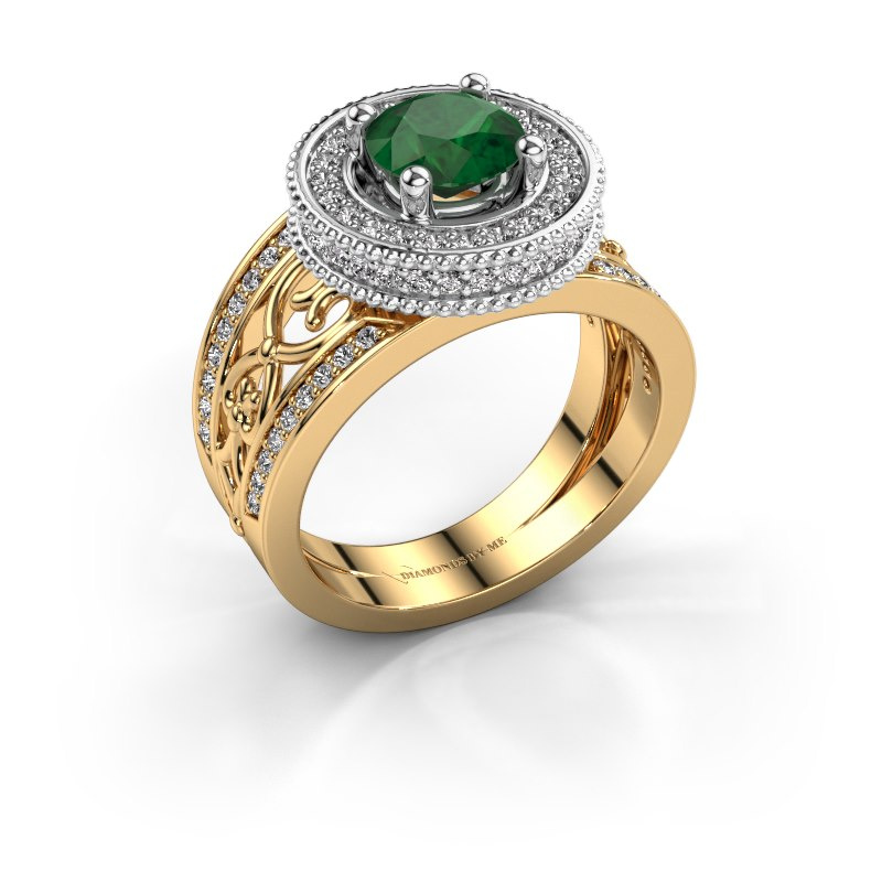 Ring Joy 585 gold emerald 6.5 mm