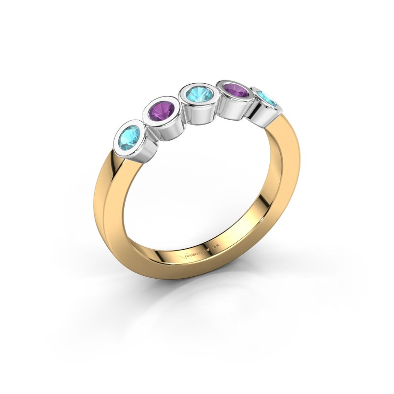 Ring Nova 585 gold blue topaz 3 mm
