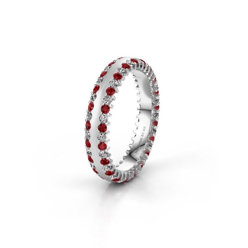 Wedding ring WH2139L24B 925 silver ruby ±4x2 mm