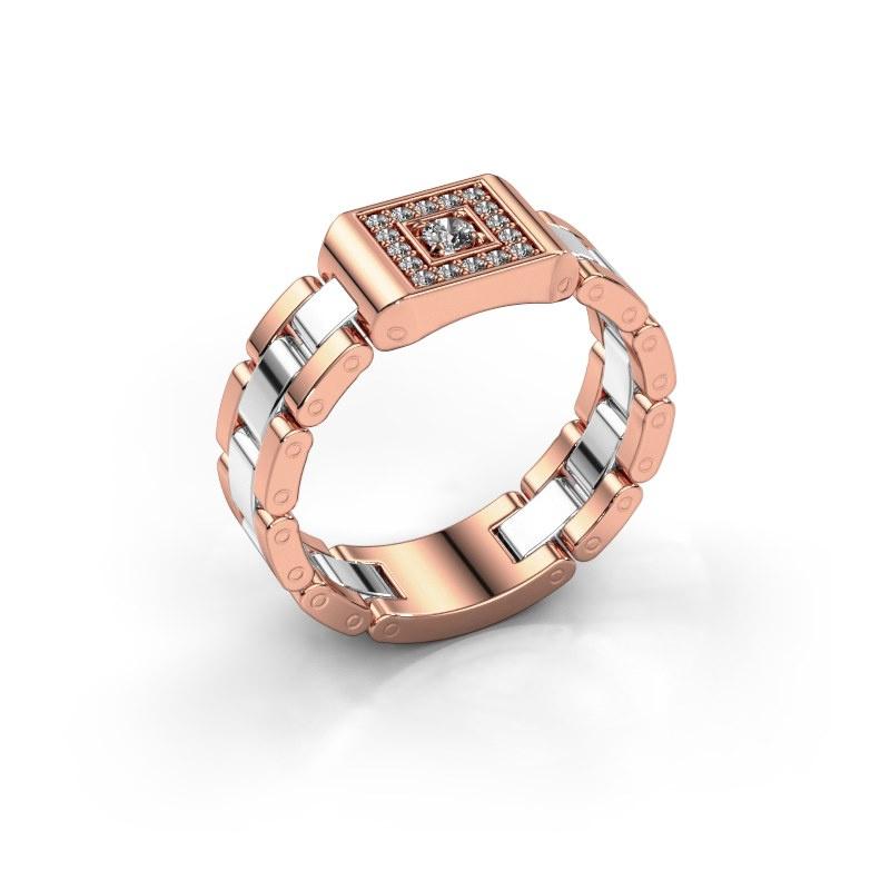 Herrenring Giel 585 Roségold Diamant 0.20 crt