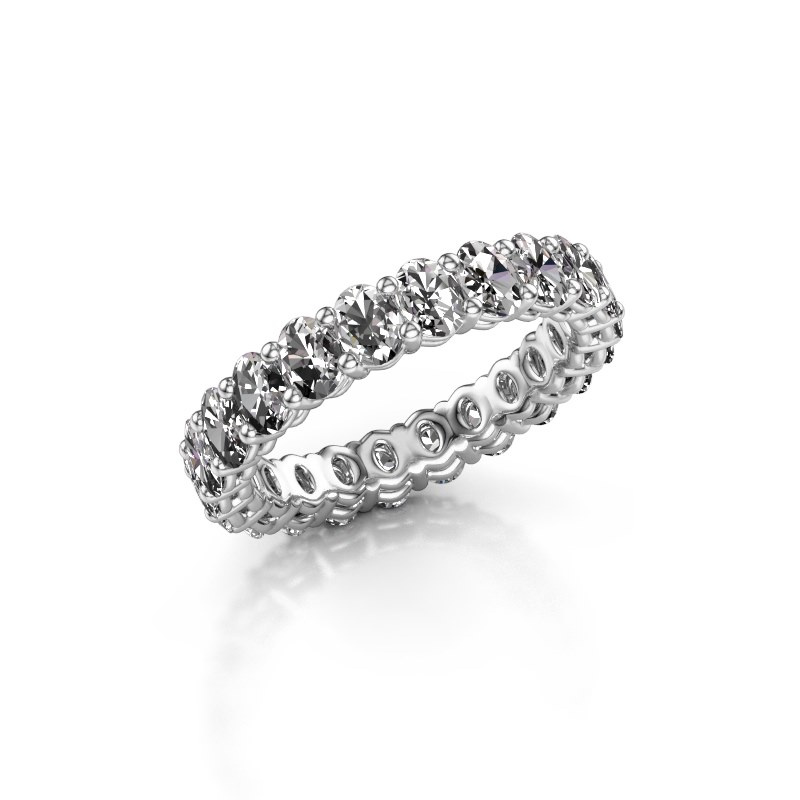 Aanschuifring Heddy OVL 3x4 585 witgoud lab-grown diamant 3.30 crt