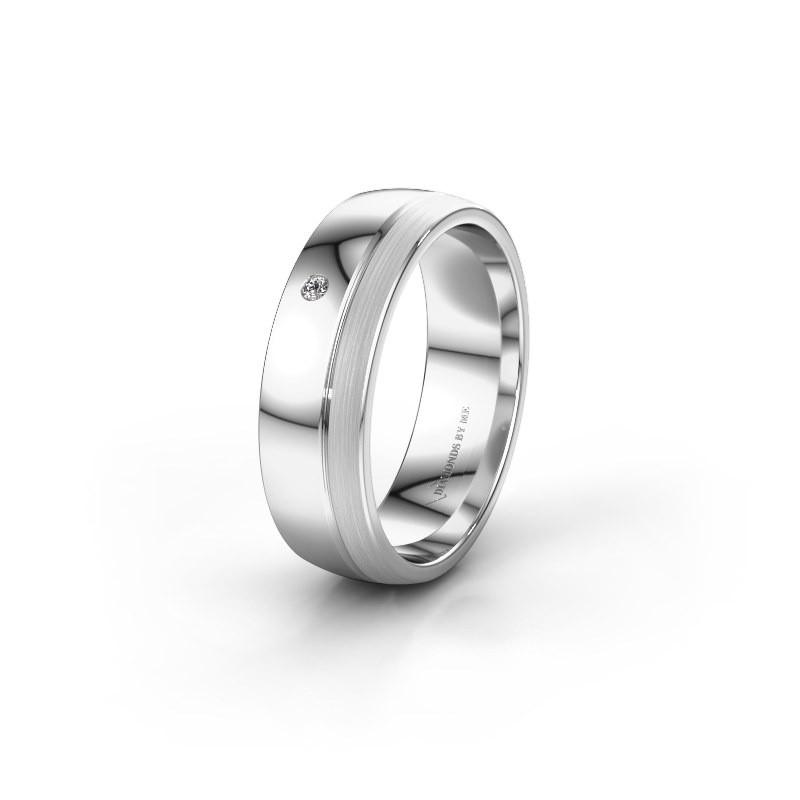 Trouwring WH0301L26APM 925 zilver diamant ±6x1.7 mm
