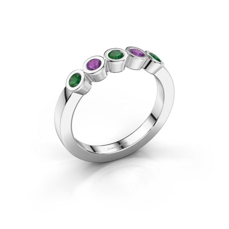 Ring Nova 585 white gold emerald 3 mm