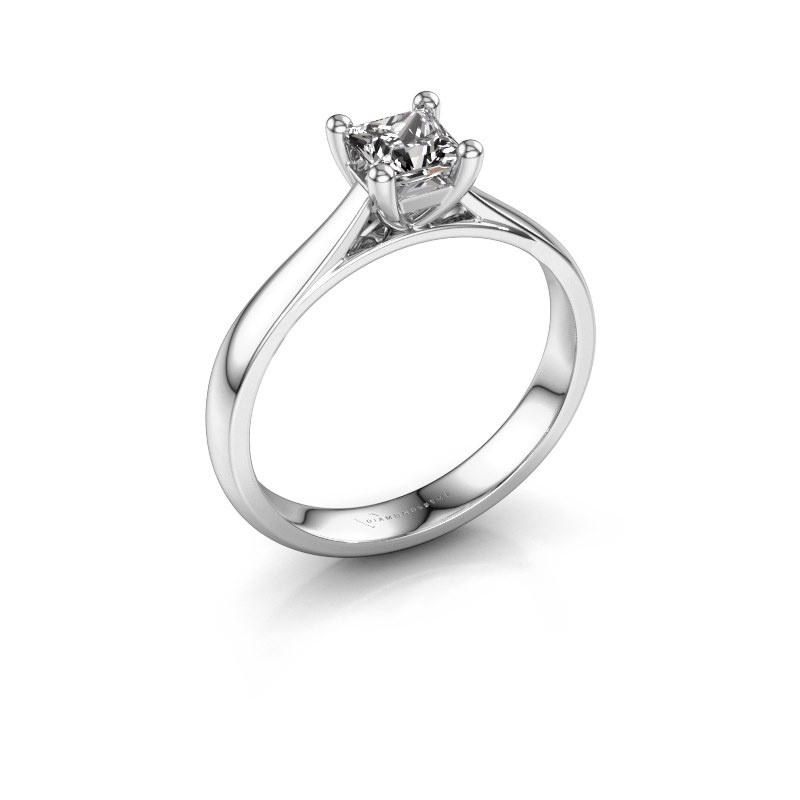 Bague de fiançailles Sam Square 950 platine diamant 0.50 crt