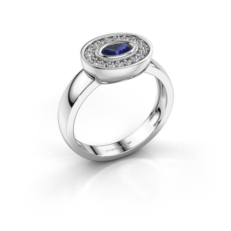 Ring Azra 925 Silber Saphir 5x3 mm
