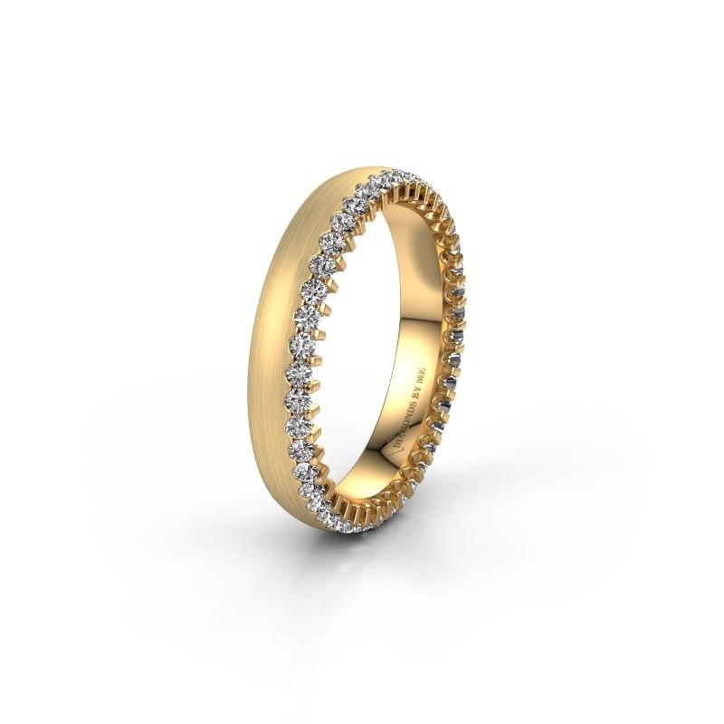 Trouwring WH2138L24B 375 goud lab-grown diamant ±4x2 mm