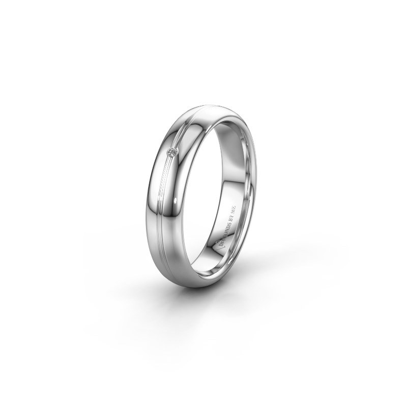 Wedding ring WH2142L34A 585 white gold zirconia ±4x1.7 mm