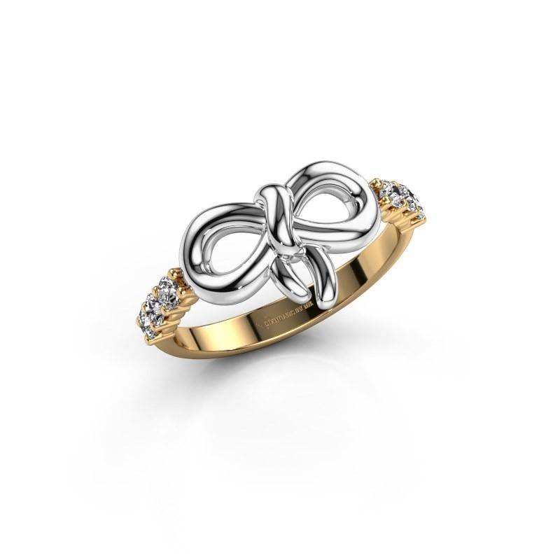 Ring Olympia 585 goud lab-grown diamant 0.27 crt