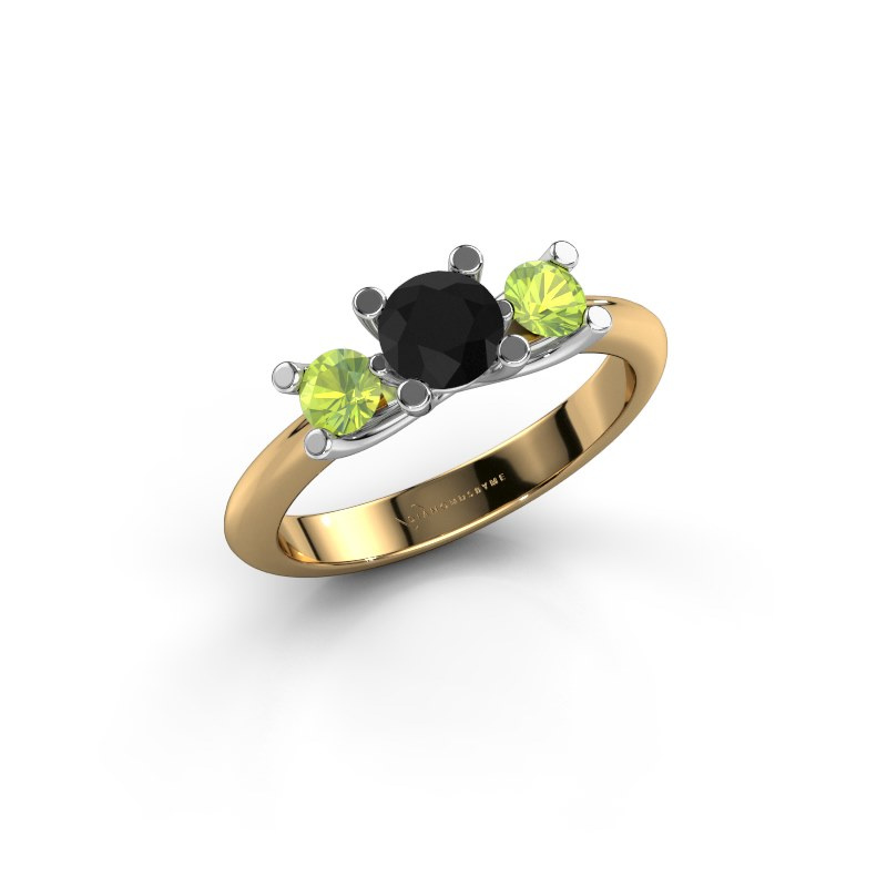 Ring Mirthe 585 gold black diamond 0.60 crt