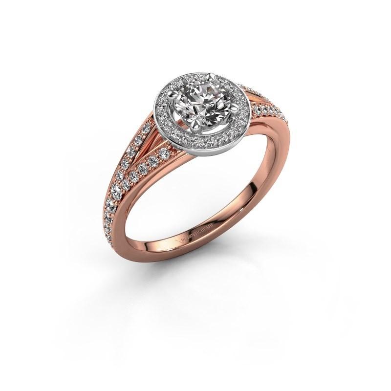 Aanzoeksring Angelita RND 585 rosé goud lab-grown diamant 0.832 crt