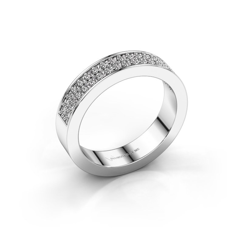Stackable ring Catharina 4 585 white gold zirconia 1.3 mm