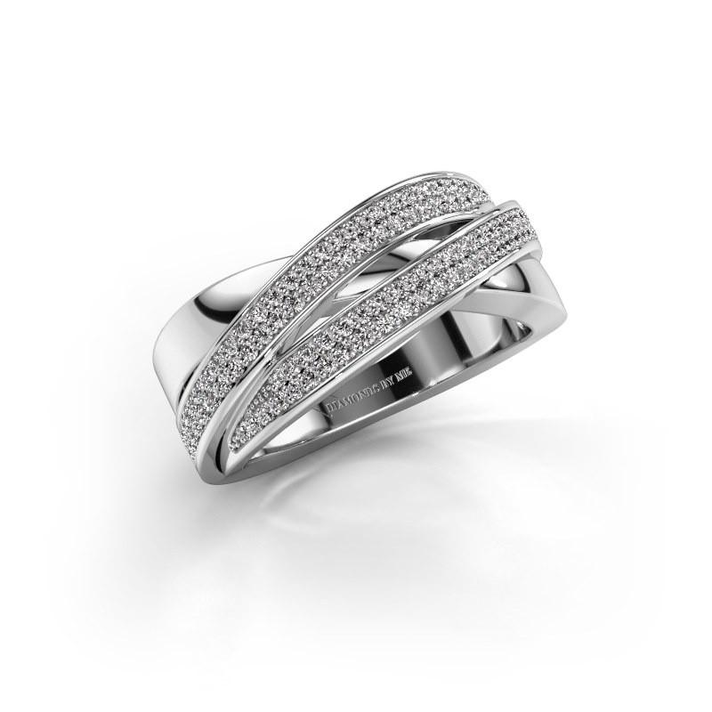 Ring Myra 950 platina zirkonia 1 mm