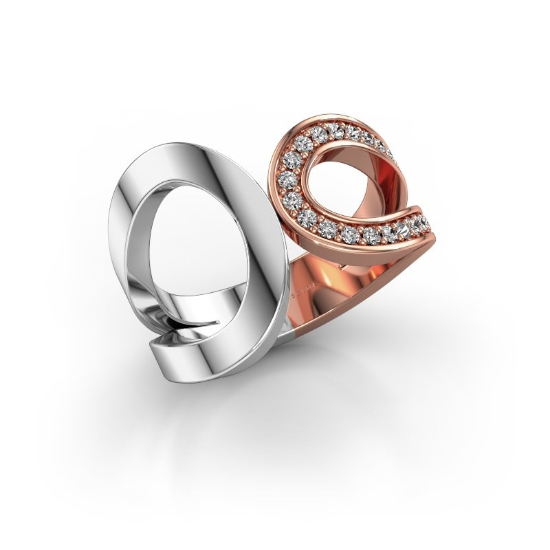 Ring Aniek 585 rose gold diamond 0.21 crt