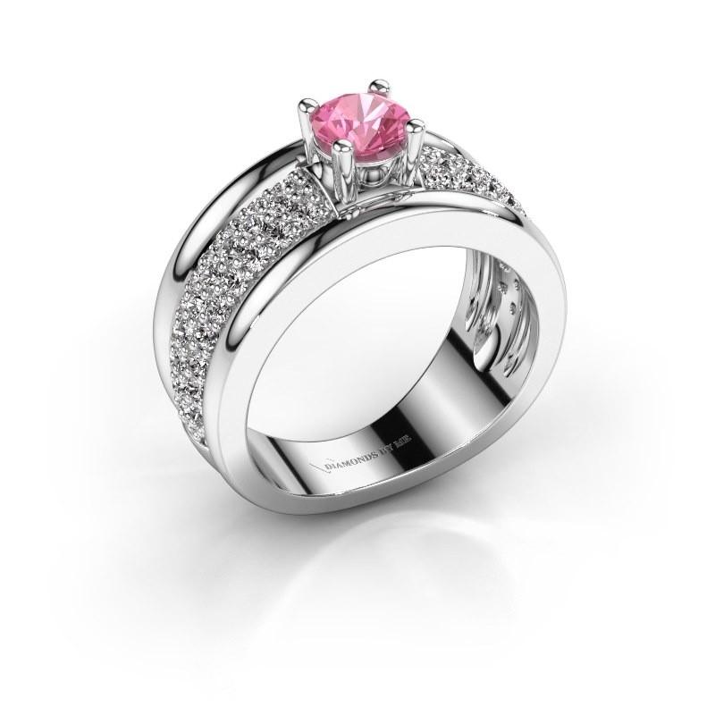 Ring Alicia 585 Weißgold Pink Saphir 5 mm