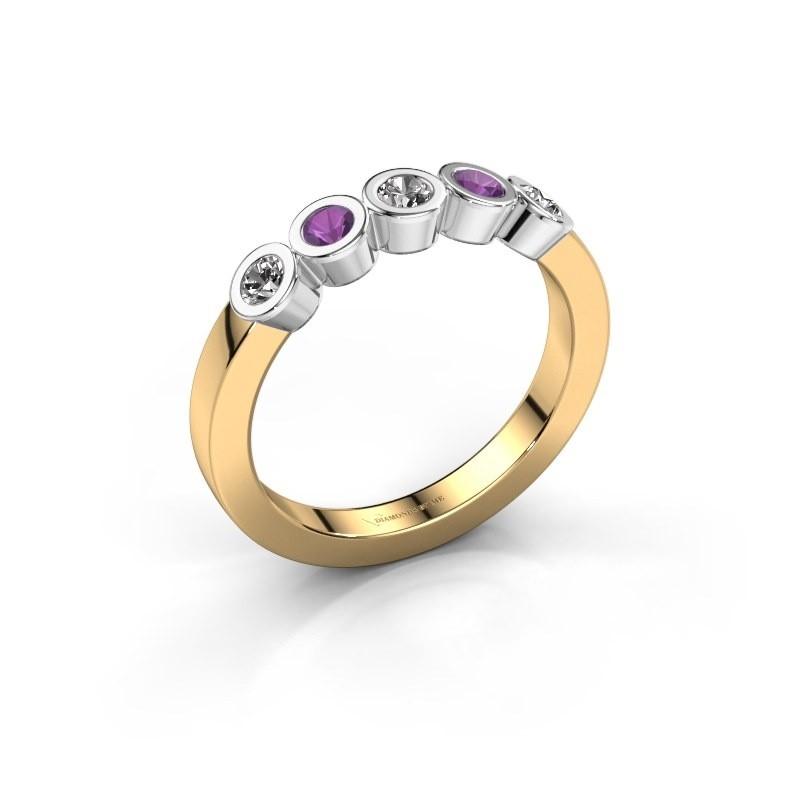 Bague Nova 585 or jaune diamant synthétique 0.30 crt