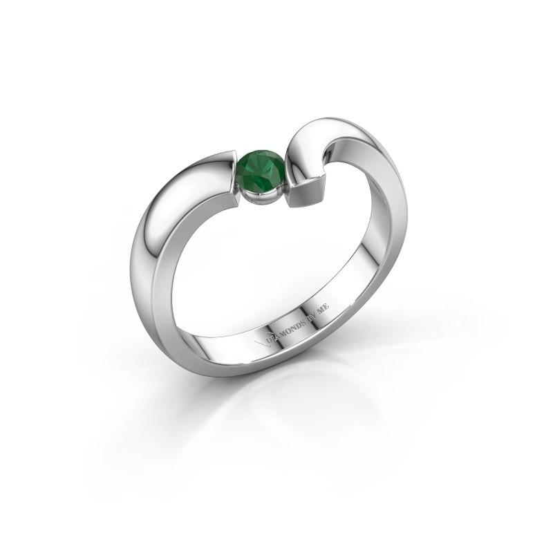 Ring Arda 925 zilver smaragd 3.4 mm