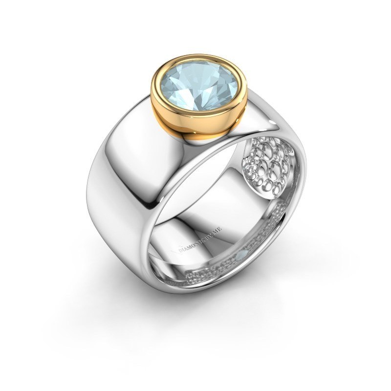 Ring Klarinda 585 white gold aquamarine 7 mm