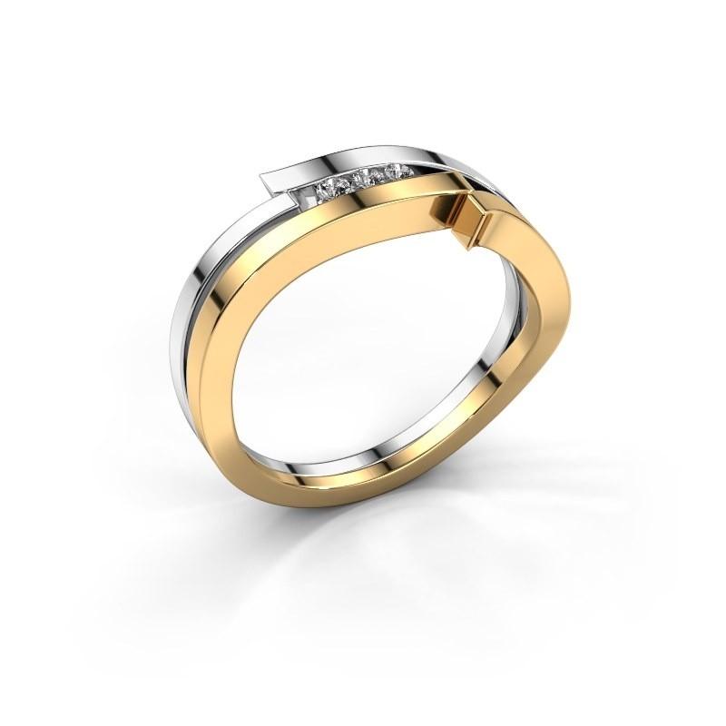 Ring Amelie 585 gold zirconia 1.7 mm