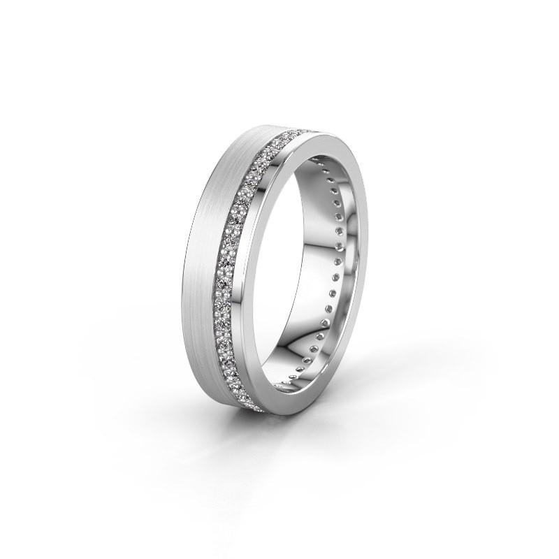 Trouwring WH0303L15BPM 925 zilver lab-grown diamant 0.44 crt ±5x2 mm