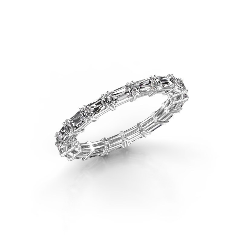 Ring Vivienne EME 4x2 585 witgoud diamant 2.55 crt