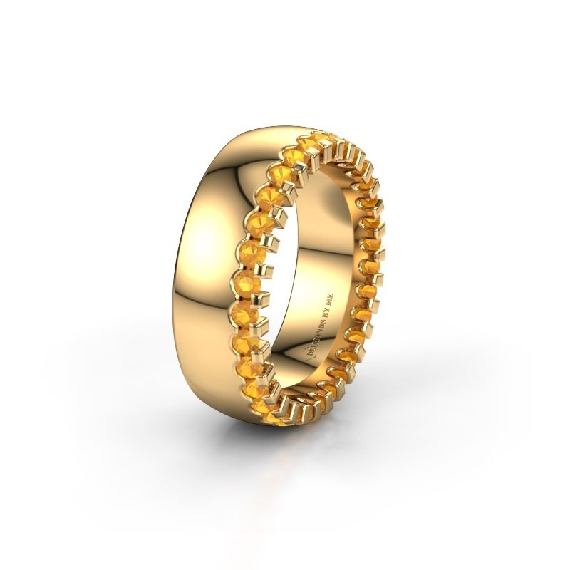 Wedding ring WH6120L27C 375 gold citrin ±7x2.2 mm