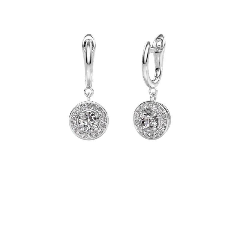 Drop earrings Ninette 1 950 platinum zirconia 5 mm