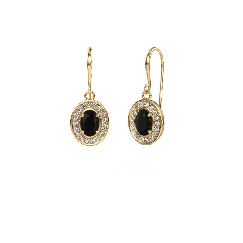 Oorhangers Layne 1 375 goud zwarte diamant 1.92 crt