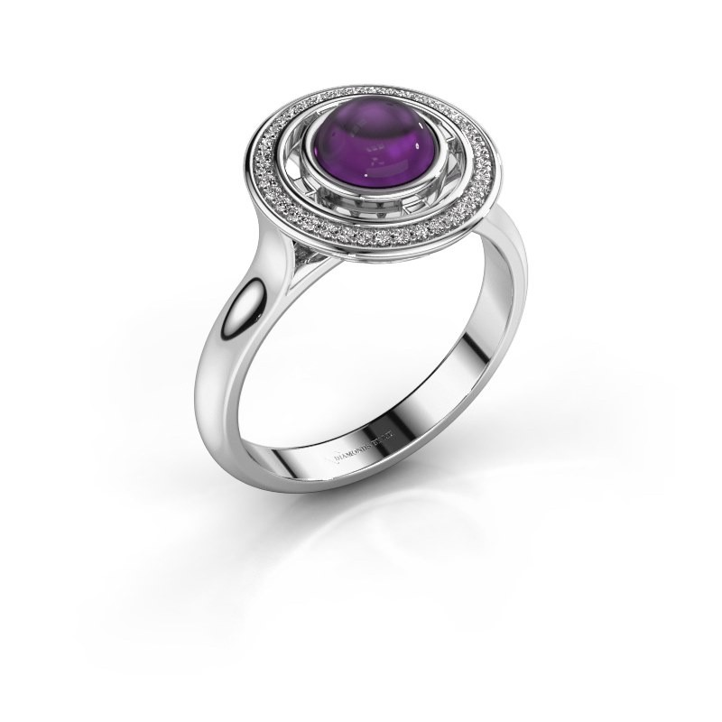 Ring Salima 950 platina amethist 6 mm