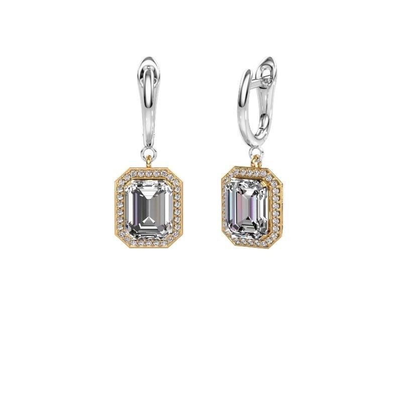 Drop earrings Dodie 1 585 gold zirconia 9x7 mm