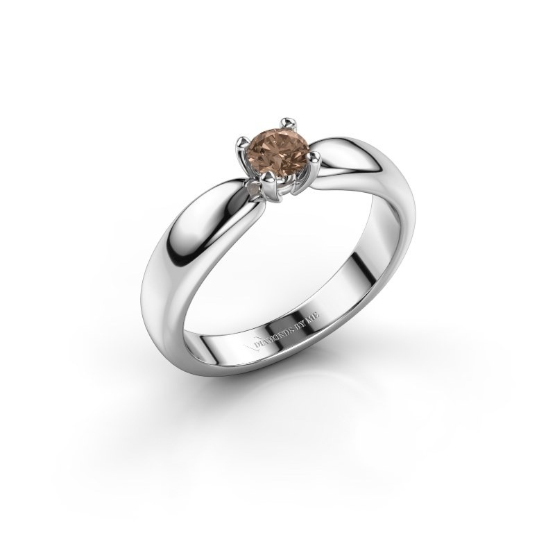 Promise ring Katrijn 950 platinum brown diamond 0.30 crt
