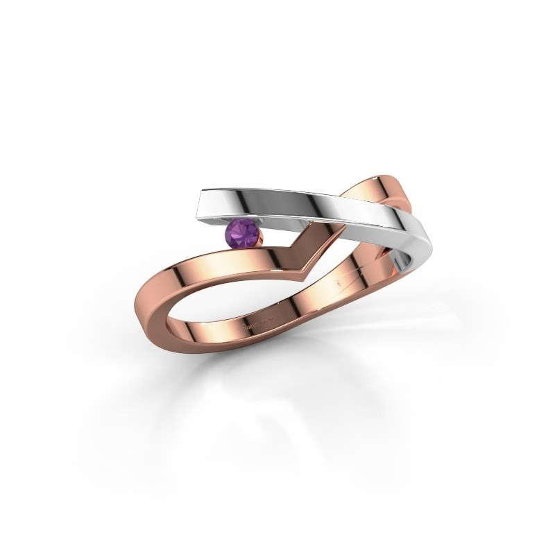 Ring Pamella 585 rosé goud amethist 2.2 mm