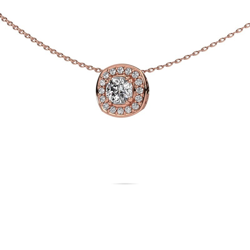 Ketting Carolina 375 rosé goud diamant 0.91 crt