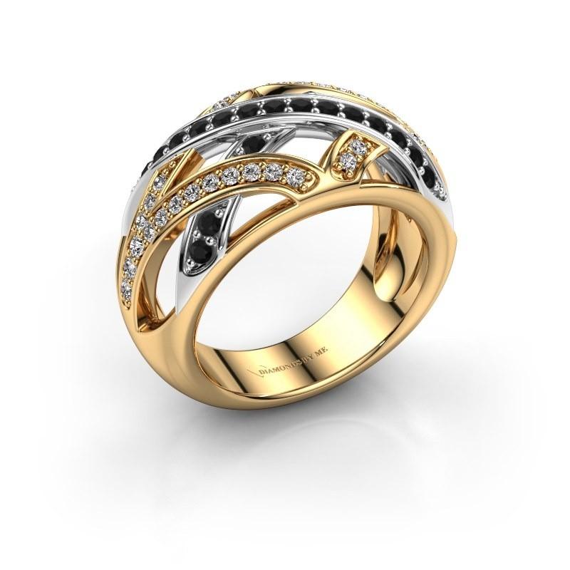 Ring Yinthe 585 gold black diamond 0.660 crt