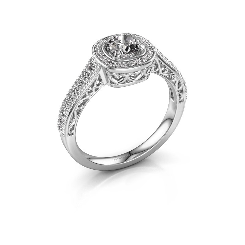 Engagement ring Candi 925 silver zirconia 5 mm