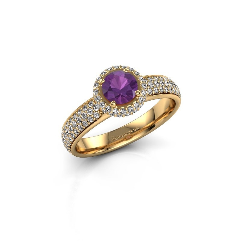 Engagement ring Mildred 375 gold amethyst 5 mm