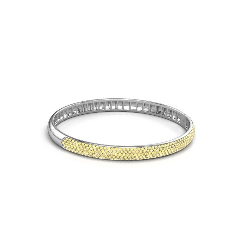 Armband Emely 6mm 585 witgoud gele saffier 1.2 mm