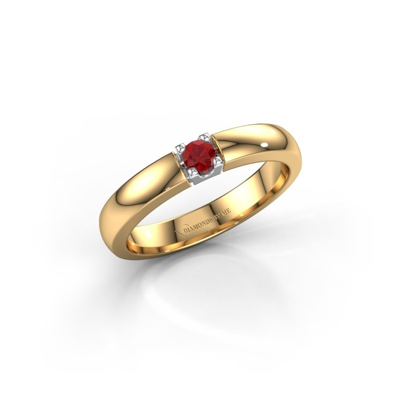 Engagement ring Rianne 1 585 gold ruby 3 mm