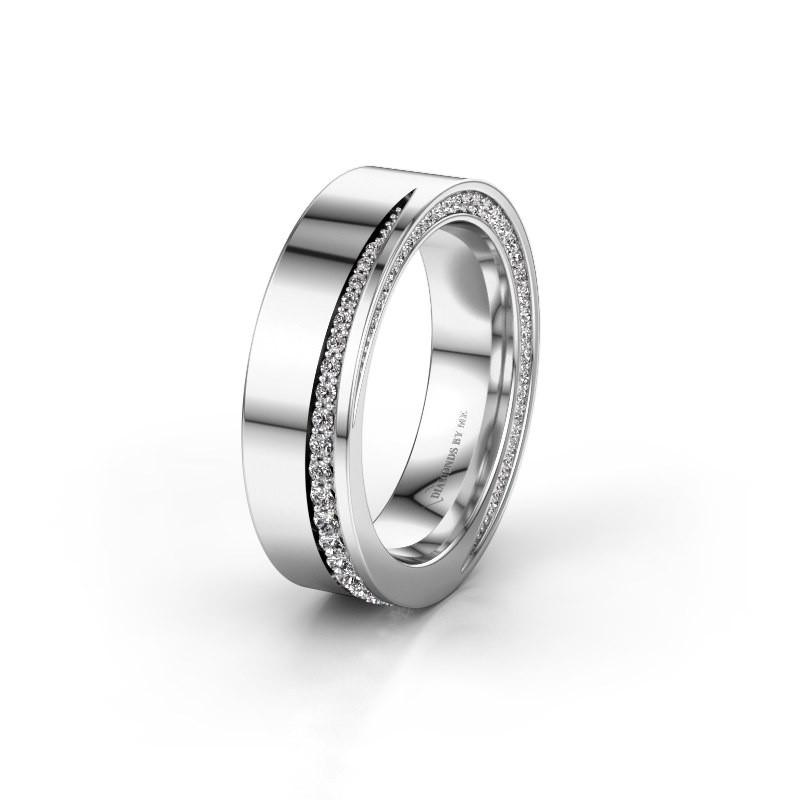 Wedding ring WH1002L15DP 925 silver diamond ±0.24x0.09in