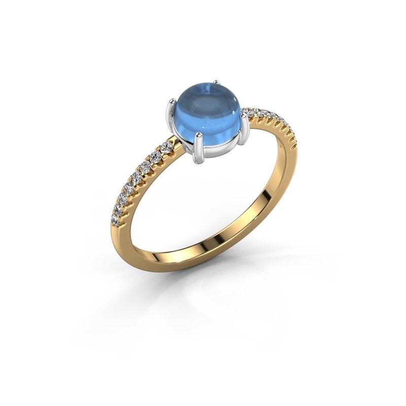 Ring Cathie 585 gold blue topaz 6 mm