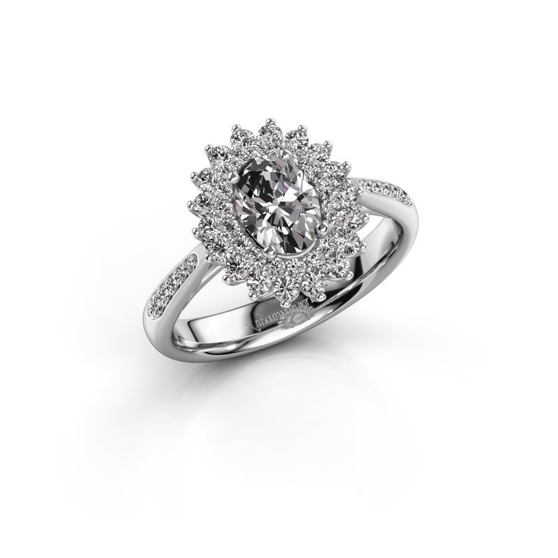Engagement ring Alina 2 925 silver zirconia 7x5 mm