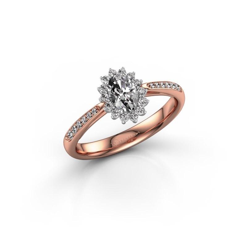 Engagement ring Tilly ovl 2 585 rose gold lab-grown diamond 0.50 crt