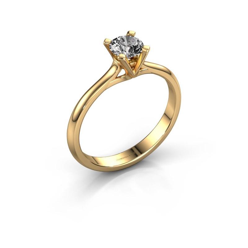 Verlovingsring Isa 1 585 goud diamant 0.50 crt