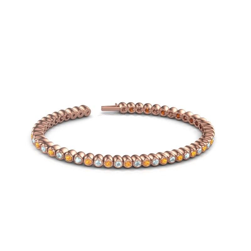 Tennisarmband Patrica 375 rosé goud citrien 2.4 mm