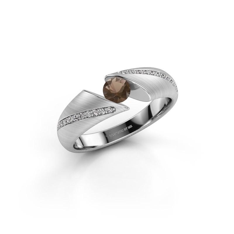 Verlovingsring Hojalien 2 925 zilver rookkwarts 4.2 mm