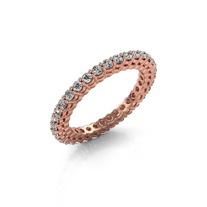 Aanschuifring Rufina 3 375 rosé goud lab-grown diamant 0.896 crt