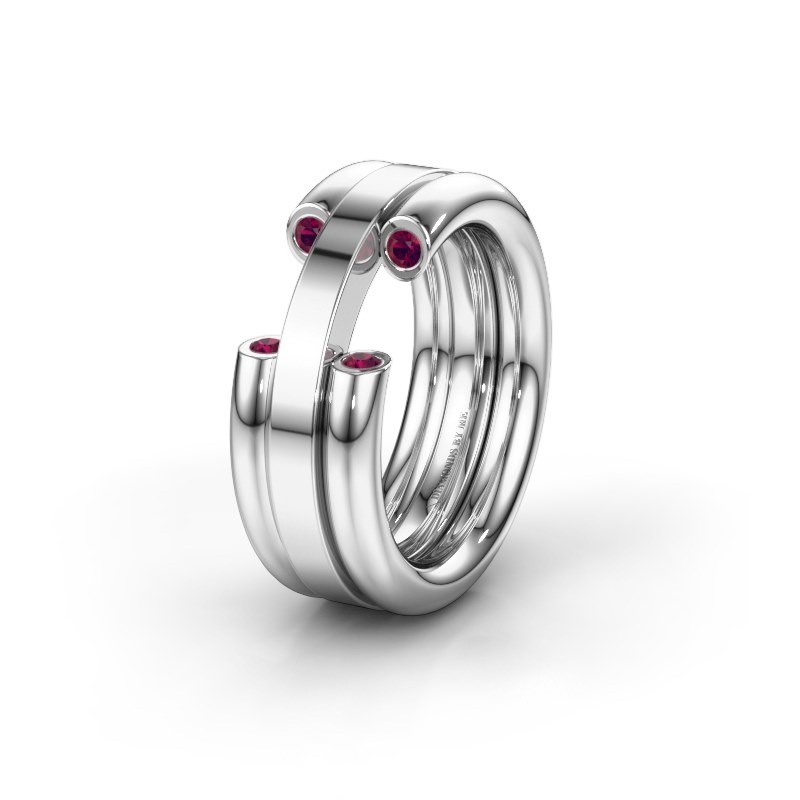 Alliance WH6018L 950 platine rhodolite ±8x3 mm