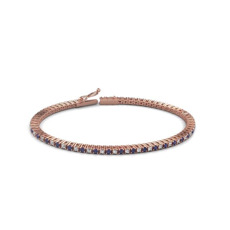 Tennis bracelet Simone 375 rose gold sapphire 2 mm