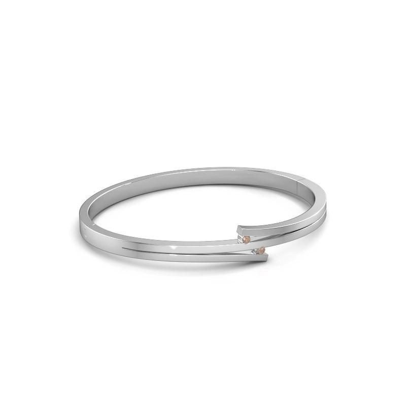 Armband Roxane 950 platina bruine diamant 0.06 crt