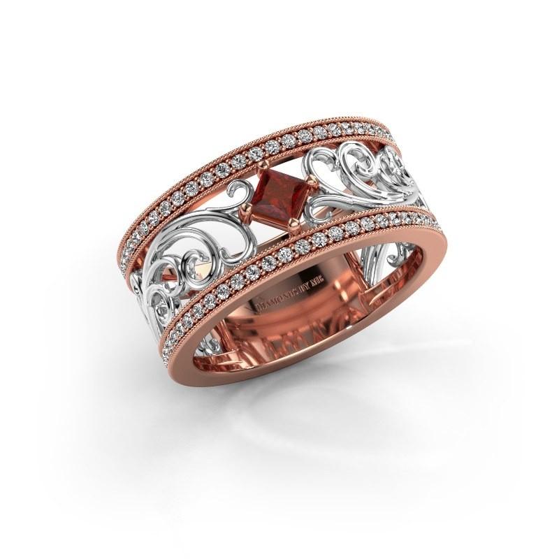 Ring Danae 585 Roségold Granat 3 mm